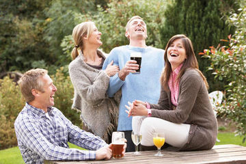 Glede i gruppe uten alkohol