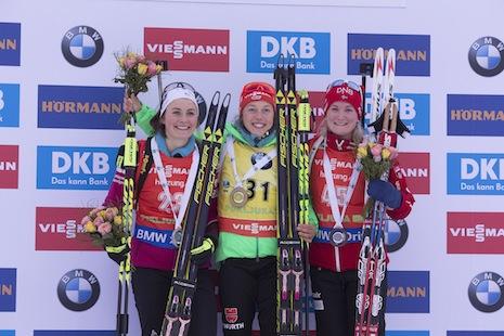 Braisaz deuxième, trois secondes derrière Dahlmeier lors du sprint dames — Biathlon