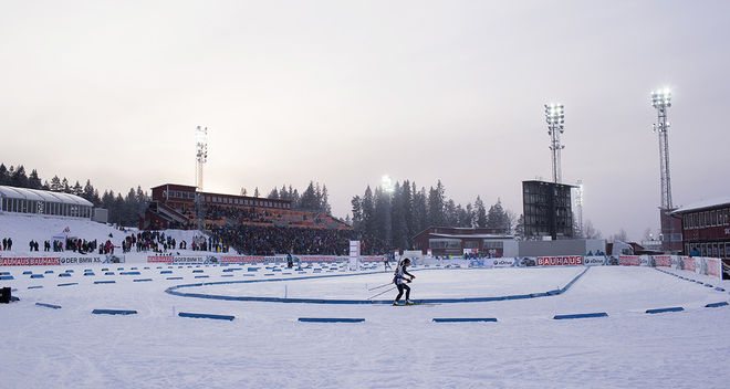 ÖSTERSUND:s skidstadion står igen i fokus kommande helg. Nu handlar det inte om skidskytte men om Scandic Cup och JVM-test för Sveriges bästa längdjuniorer. Foto: NORDIC FOCUS