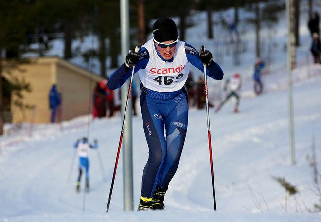 ANTON ELVSETH från Lierne vid svenska gränsen i Nord-Trøndelag har tagit ledningen som ende utlänning i årets Scandic Cup. Foto/rights: KJELL-ERIK KRISTIANSEN/sweski.com
