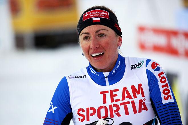 JUSTYNA KOWALCZYK är inte färdig än. I söndags vann hon Skandinaviska cupen då hon testade den kommande VM-banan för 10 km klassisk stil i Lahtis. Hon kan mycket väl ta en VM-medalj till i vinter. Foto/rights: KJELL-ERIK KRISTIANSEN/sweski.com