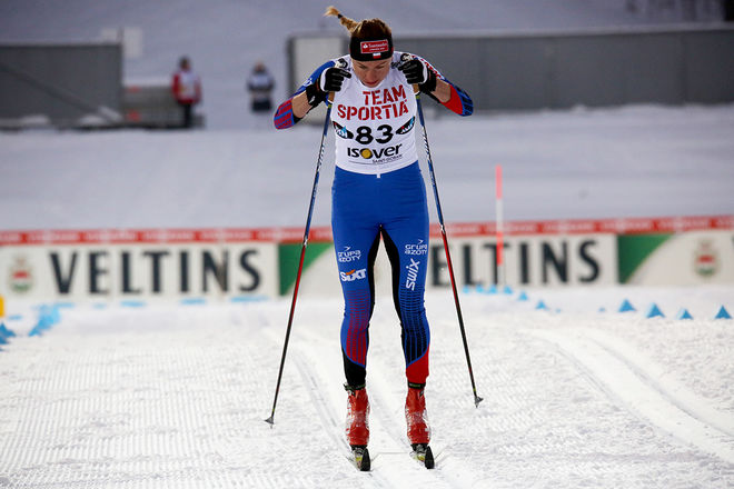 DET VAR lite av den gamla, goda Justyna Kowalczyk i Lahtis den här helgen. Foto/rights: KJELL-ERIK KRISTIANSEN/sweski.com
