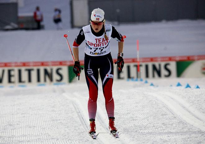 MARTHE KRISTOFFERSEN fick plats i det norska VC-laget igen efter insatsen i Skandinavisk cup, där hon fick stryk av två svenskor i sprinttävlingen. Foto/rights: KJELL-ERIK KRISTIANSEN/sweski.com
