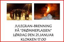 Julegranbrenning i Øksningan 2017