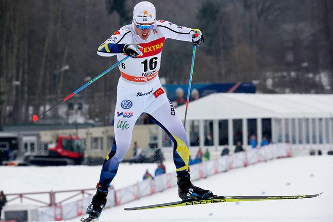 CALLE HALFVARSSON har blivit magsjuk och missar helgens världscuptävlingar i Davos. Det gör också Anna Dyvik. Foto/rights: MARCELA HAVLOVA/KEK-stock