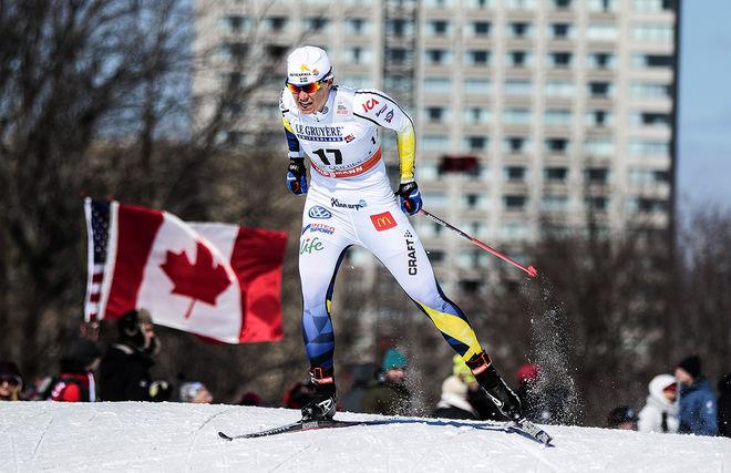 IDA INGEMARSDOTTER gjorde tillsammans med Stina Nilsson en stark jaktstart i Quebec. Ida blev fyra totalt i minitouren som avslutade vinterns världscup. Foto: NORDIC FOCUS