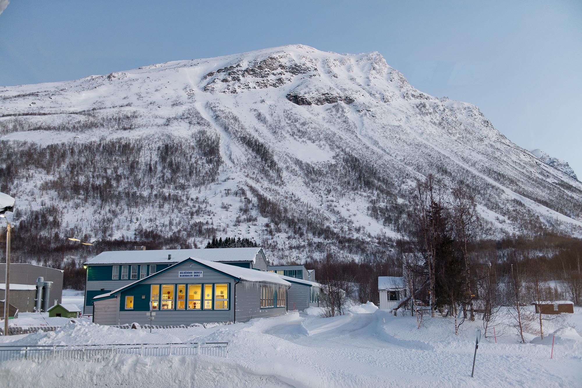 Olderdalen skole vinter