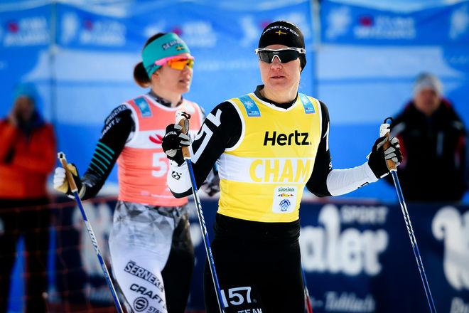 BRITTA JOHANSSON NORGREN har redan vunnit Visma Ski Classics sammanlagt den här säsongen och försvarat segern från ifjol. Det innan den kommande finalen i finska Ylläs-Levi. Foto: MAGNUS ÖSTH