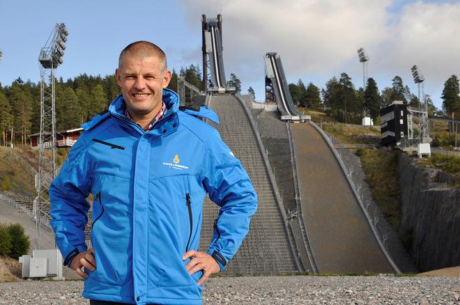 JIMMY BIRKLIN, VD för Svenska skidspelen är glad över att internationell backhoppning gör comeback på skidspelsprogrammet. Foto: SVENSKA SKIDSPELEN