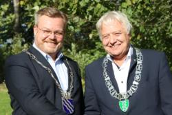 Ordførerne Thor Hals og Olav Breivik