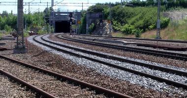 Ski jernbanespor syd for  stasjon