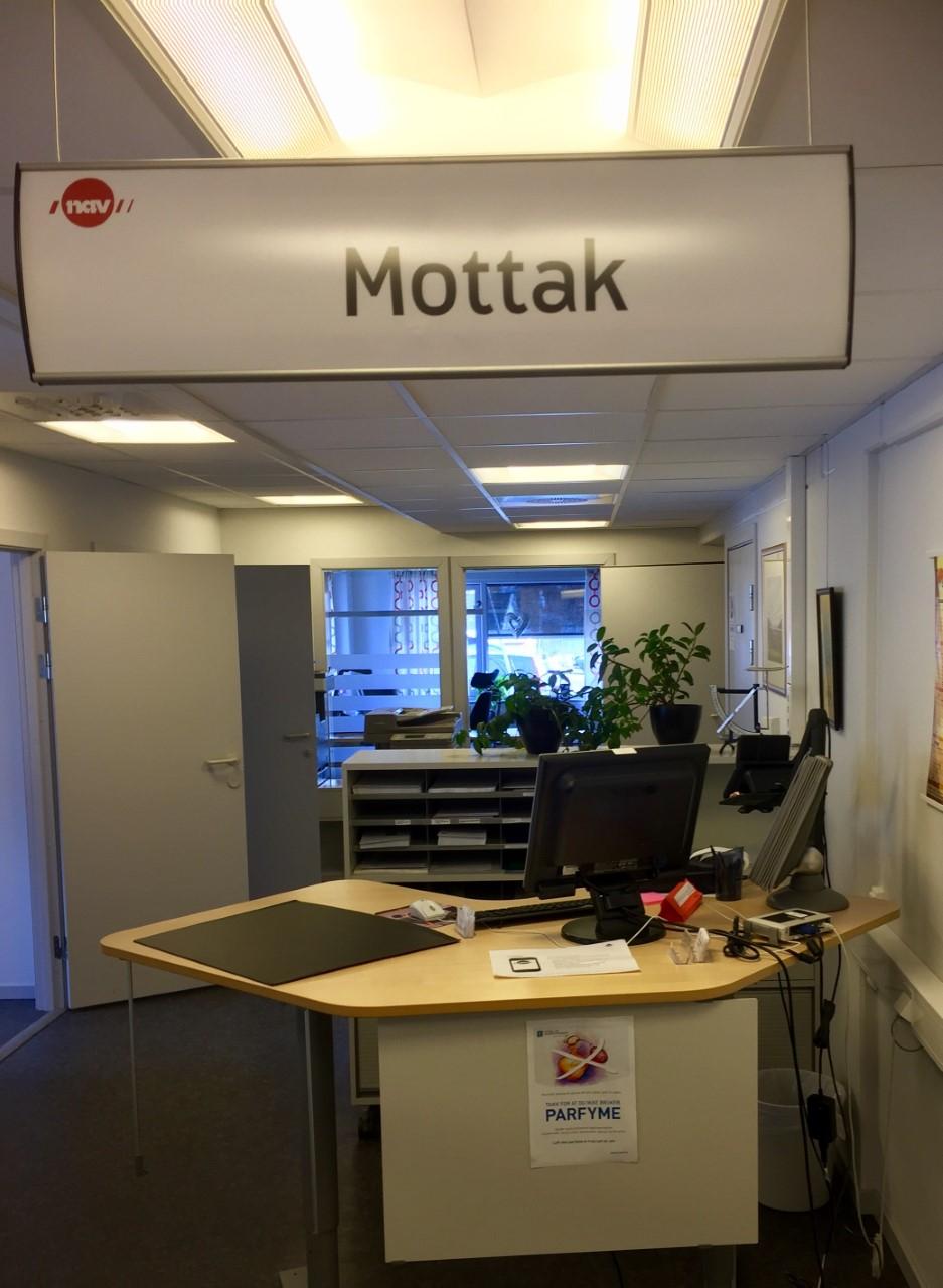 Bilde av kundemottaket hos NAV Kåfjord