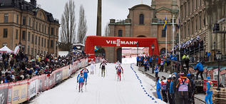 11.02.2016, Stockholm, Sweden (SWE): athletes on the home stretch  - FIS world cup cross-country, individual sprint, Stockholm (SWE). www.nordicfocus.com. © Felgenhauer/NordicFocus. Every downloaded picture is fee-liable.
