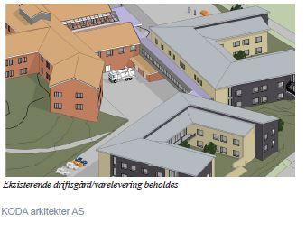 Eksisterende driftsgård - nye bygg