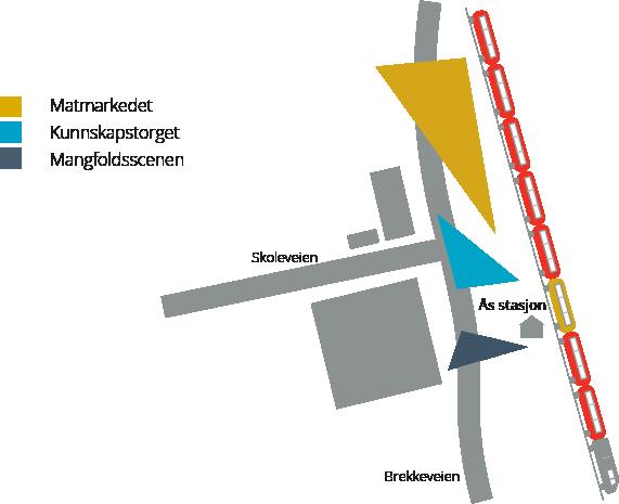 Kart over stasjonsområdet