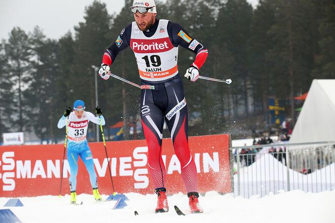 PETTER NORTHUG jr tränar mer än någon gång på hög höjd för att komma tillbaka till toppen i OS-säsongen 2018. Här från världscupen i Falun i vintras. Foto/rights: MARCELA HAVLOVA/sweski.com