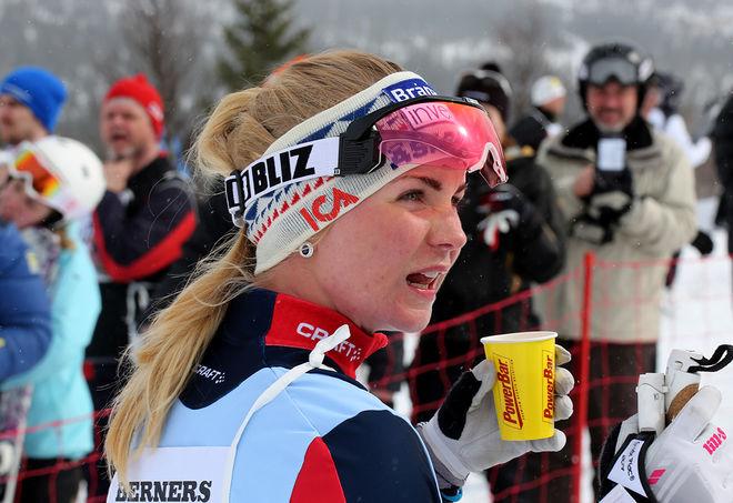 ÅSARNA-ÅKAREN Elin Mohlin var snabbaste dam i Bäverloppet i Rossön där sambon Anton Karlsson slutade tvåa i sin debut för nya klubben Sockertoppen IF. Foto/rights: MARCELA HAVLOVA/sweski.com