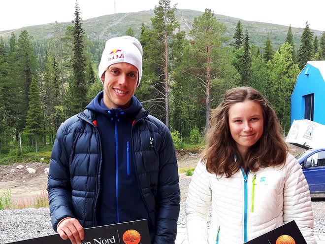 MARCUS HELLNER och Maja Majbäck bäst på Dundret igen. Foto: ARRANGÖREN