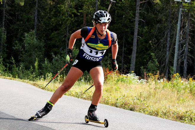 ANNA MAGNUSSON gjorde ett bra lopp och säkrade sig söndagens SM-guld i en tuff damklass. Foto: HÅKAN BLIDBERG