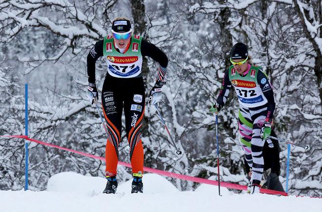 MAJA DAHLQVIST kan mycket väl vara ett namn för OS-truppen till Pyeongchang. Här före en annan OS-aktuell åkare, nämligen Anna Haag. Foto/rights: KJELL-ERIK KRISTIANSEN/sweski.com