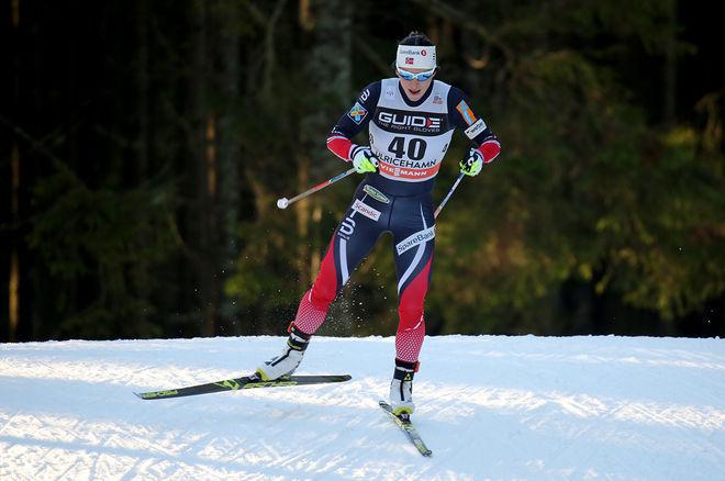 ÄN HÅLLER SKIDDROTTNINGEN Marit Bjørgen. Men vid 37 års ålder börjar många undra på när karriären tar slut. Kanske redan efter vinterns säsong? Här från världscupen i Ulricehamn i vintras. Foto/rights: MARCELA HAVLOVA/sweski.com