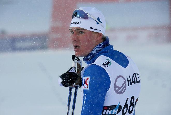 MARCUS GRATE spurtade ner klubbkompisen Robin Norum i 7-mila-rullen i Västerbotten. Här från Skandinaviska cupen i Lahtis i vintras. Foto/rights: KJELL-ERIK KRISTIANSEN/sweski.com