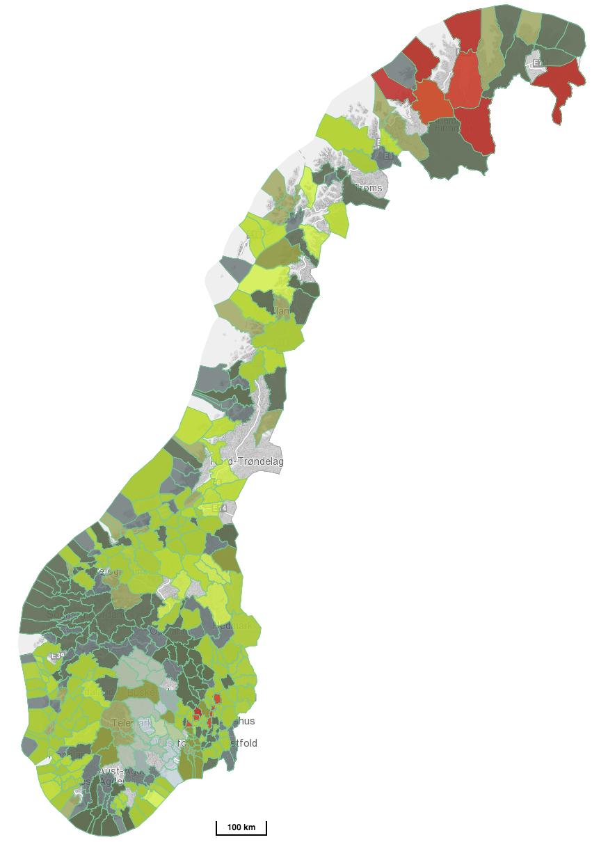 Norgeskart nettverk NKF avlang