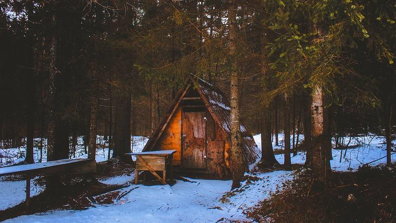 hytte fra pixabay