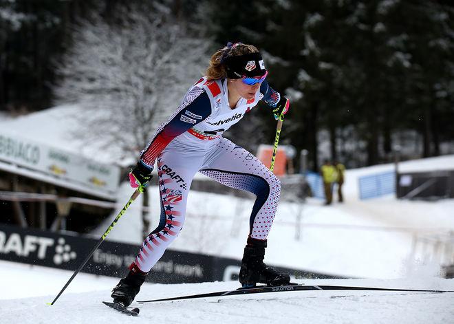 JESSICA DIGGINS saknar stafetter, prologer och kortare distanslopp i vinterns världscup - distanserna där bland annat dom amerikanska damerna har slagit Norge och Sverige. Foto/rights: MARCELA HAVLOVA/KEK-photo