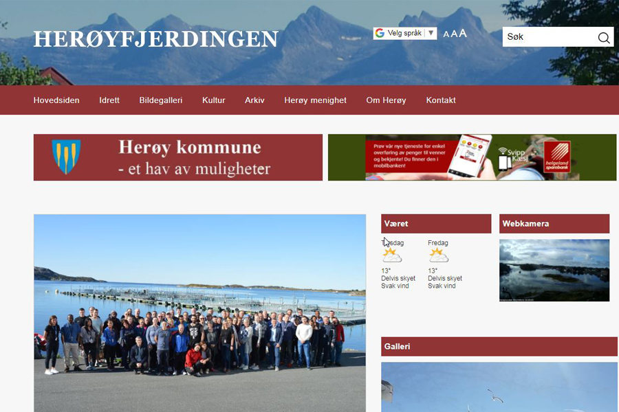 Nytt design på Herøyfjerdingen