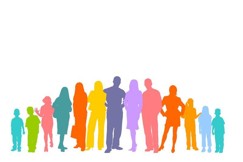 Illustrasjon gruppe mennesker