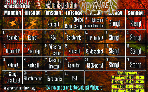Månedsplan Rudolf november 2017