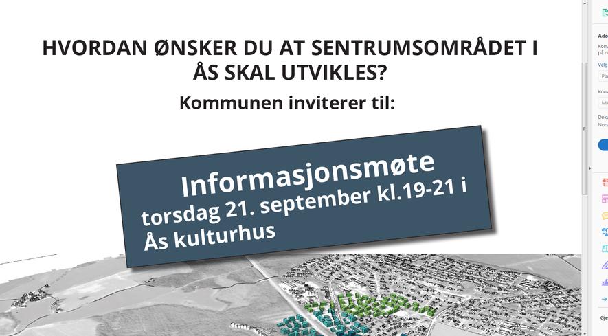 Informasjonsmøte om sentrumsutvikling illustrasjonsbilde