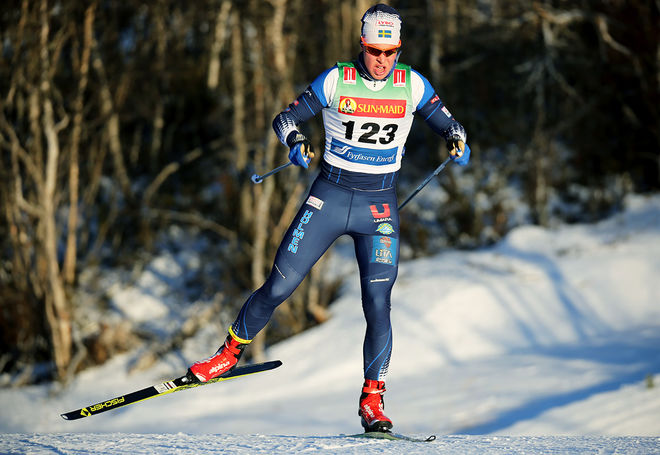 MARCUS FREDRIKSSON, Lycksele är en av landslagsåkarna som är anmält till Daniel Karlssons minne i Östersund under torsdagskvällen. Foto/rights: KJELL-ERIK KRISTIANSEN/KEK-stock