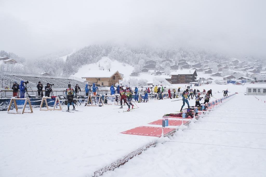 Foyer Nordique Grand Bornand : Biathlon grand bornand c est parti ski nordique