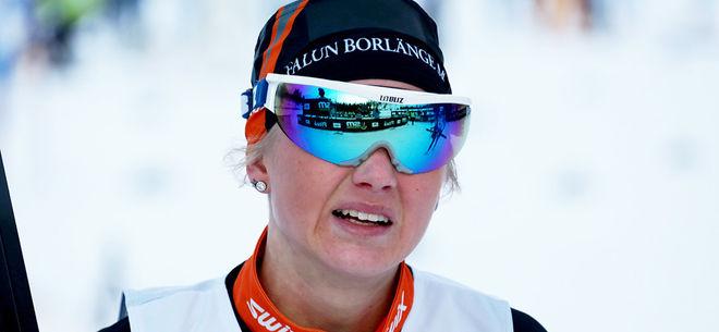 MAJA DAHLQVIST, Falun-Borlänge SK är ett av dom svenska hoppen för en topplaceringar i kvinnornas klassiska sprint i Piteå under fredagen. Foto/rights: KJELL-ERIK KRISTIANSEN/KEK-stock