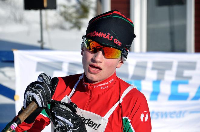 ÄNTLIGEN en bild på Pål Jonsson från Strömnäs, killen som vunnit två tävlingar i Scandic cup och som är son till fd landslagsstjärnan Niklas Jonsson. Foto: HÅKAN SVENSSON