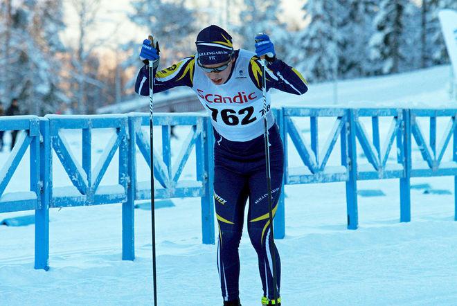 """""""SKILLINGARYDSEXPRESSEN"""" på väg mot en klar seger i H19-20. Leo Johansson gick inte att stoppa i Östersund. Foto: THORD ERIC NILSSON"""