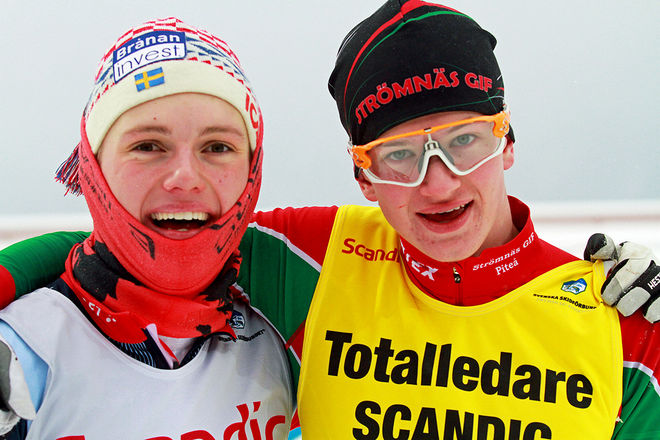 PÅL JONSSON, Strömnäs (th) vann finalen i H17-18 i Östersund före Ossian Rosenberg, Åsarna. Foto: THORD ERIC NILSSON