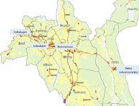 Kart Indre Østfold