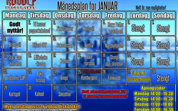 Månedsplan januar 2018 Rudolf