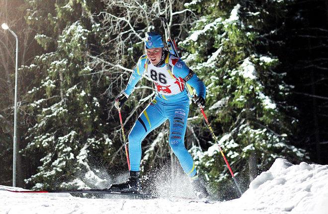 EMIL NYKVIST, SK Bore är en av dom uttagna åkarna till JVM i skidskytte i Otepää i Estland. Här från SM i Östersund förra veckan. Foto: HÅKON BLIDBERG
