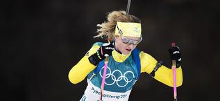 15.02.2018, Pyeongchang, Korea (KOR):Mona Brorsson (SWE) - XXIII. Olympic Winter Games Pyeongchang 2018, biathlon, individual women, Pyeongchang (KOR). www.nordicfocus.com. © Manzoni/NordicFocus. Every downloaded picture is fee-liable.