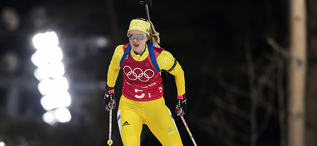 20.02.2018, Pyeongchang, Korea (KOR):Mona Brorsson (SWE) - XXIII. Olympic Winter Games Pyeongchang 2018, biathlon, relay mixed, Pyeongchang (KOR). www.nordicfocus.com. © Manzoni/NordicFocus. Every downloaded picture is fee-liable.