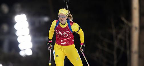 20.02.2018, Pyeongchang, Korea (KOR):Mona Brorsson (SWE) - XXIII. Olympic Winter Games Pyeongchang 2018, biathlon, relay mixed, Pyeongchang (KOR). www.nordicfocus.com. © Manzoni/NordicFocus. Every downloaded picture is fee-liable.