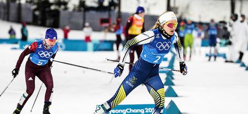 17.02.2018, Pyeongchang, Korea (KOR):Stina Nilsson (SWE) - XXIII. Olympic Winter Games Pyeongchang 2018, cross-country, 4x5km women, Pyeongchang (KOR). www.nordicfocus.com. © Modica/NordicFocus. Every downloaded picture is fee-liable.