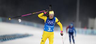 22.02.2018, Pyeongchang, Korea (KOR):Hanna Oeberg (SWE) - XXIII. Olympic Winter Games Pyeongchang 2018, biathlon, relay women, Pyeongchang (KOR). www.nordicfocus.com. © Manzoni/NordicFocus. Every downloaded picture is fee-liable.