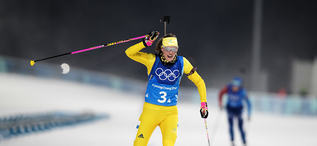 22.02.2018, Pyeongchang, Korea (KOR):Hanna Oeberg (SWE) - XXIII. Olympic Winter Games Pyeongchang 2018, biathlon, relay women, Pyeongchang (KOR). www.nordicfocus.com. © Manzoni/NordicFocus. Every downloaded picture is fee-liable.