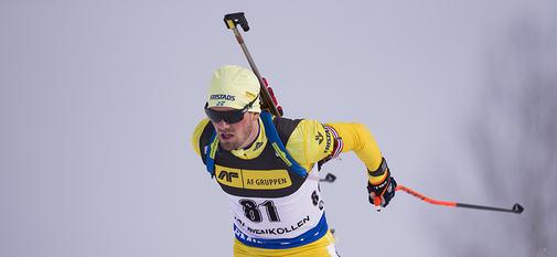 15.03.2018, Oslo, Norway (NOR):Fredrik Lindstroem (SWE) - IBU world cup biathlon, sprint men, Oslo (NOR). www.nordicfocus.com. © Manzoni/NordicFocus. Every downloaded picture is fee-liable.