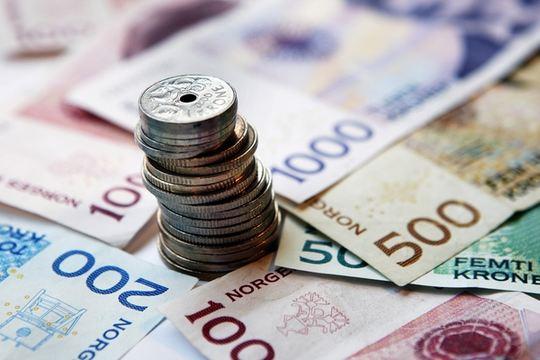 Pengesedler og mynter